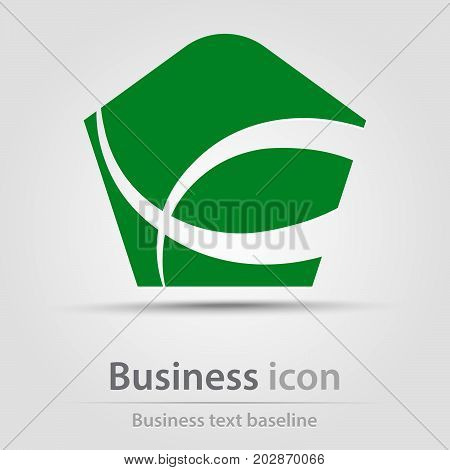 Originally created business icon with hatched abstract shape