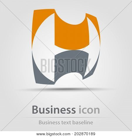Originally created business icon with stylized H letter