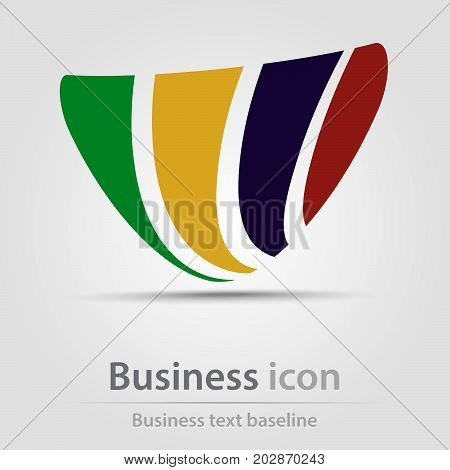Originally created business icon with hatched triangle