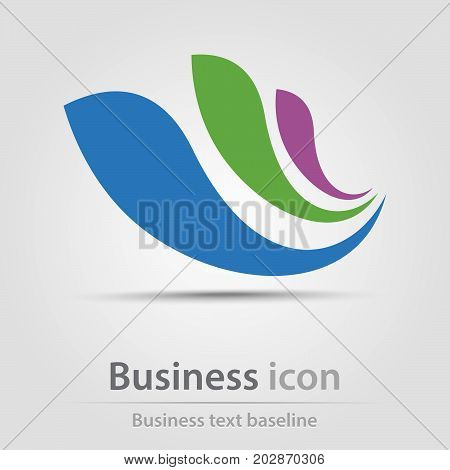 Originally created business icon with flying wing