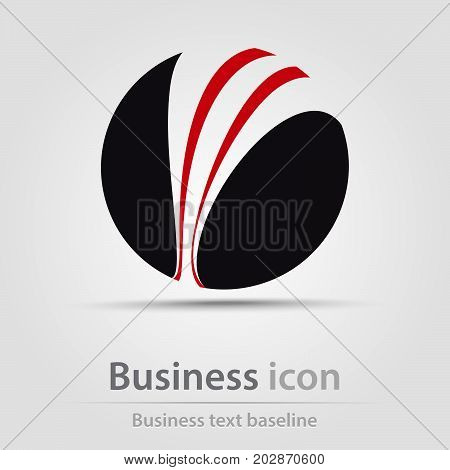 Originally created business icon with hatched ball