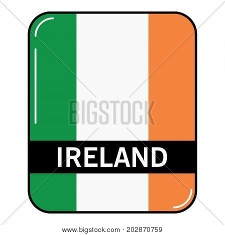 National flag and ensign of the Republic of Ireland.European country. European Union.Irish tricolour.Concept of design of a poster, banner, icon or the leaflet for the website or a mobile application