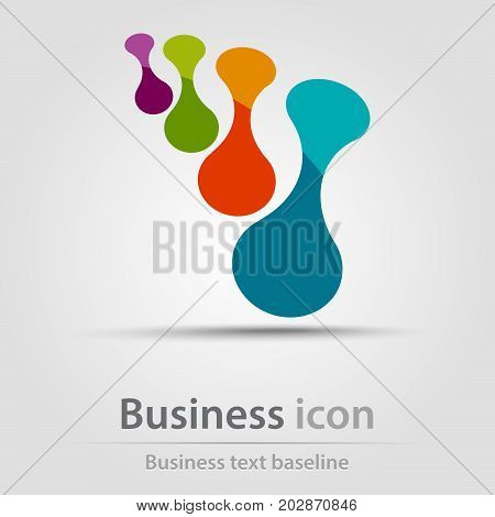 Originally created business icon with four metaball objects