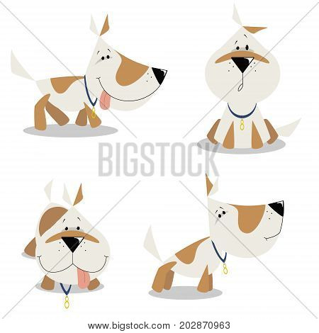 Dog Little White Dog Vector Photo Free Trial Bigstock
