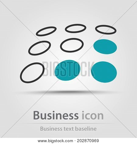 Originally created business icon with a couple of empty and filled dots