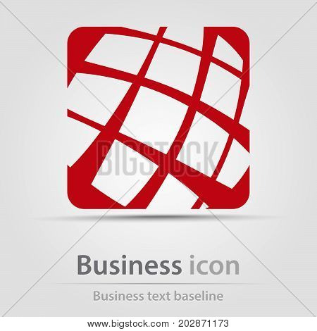 Originally created business icon with red web