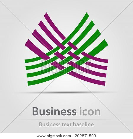 Originally created business icon with crossed bars