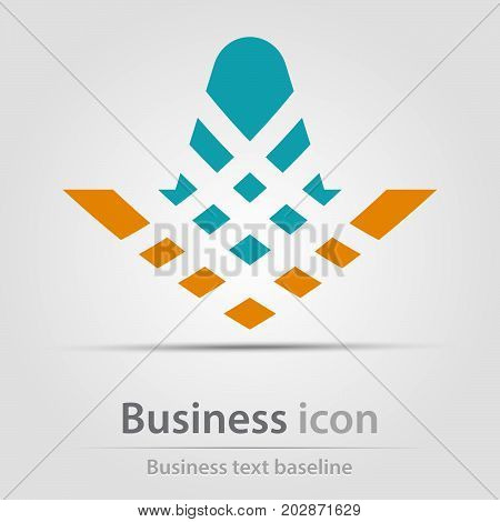 Originally created business icon with hatched arrow