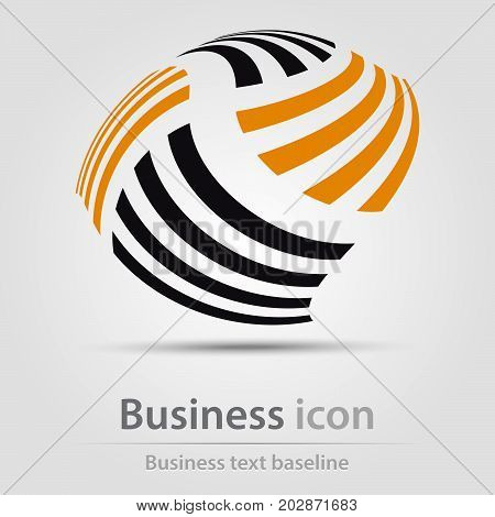 Originally created business icon with flying bars
