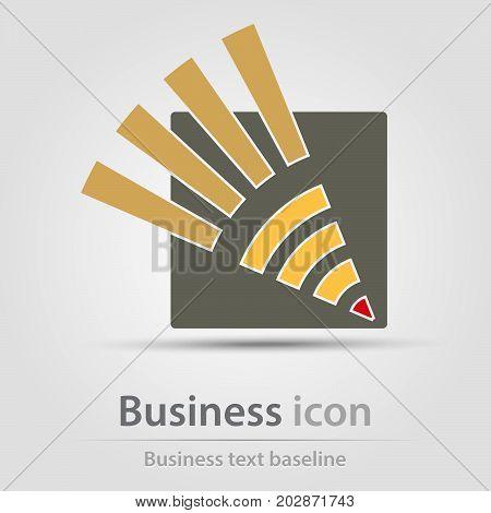 Originally created business icon with pencil head symbol