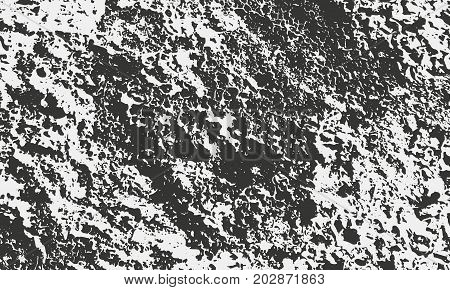 Texture of old stone with grains and stains. Grunge vector background. Distressed overlay for retro design.
