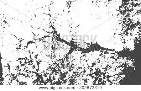 Vector texture with grains, cracks and stains. Grunge abstract background for retro design. Distressed cracked overlay.