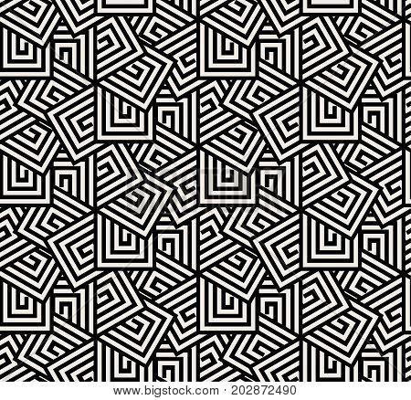 Seamless overlap hexagon pattern in vector design