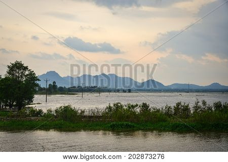 Mekong River In Southern Vietnam