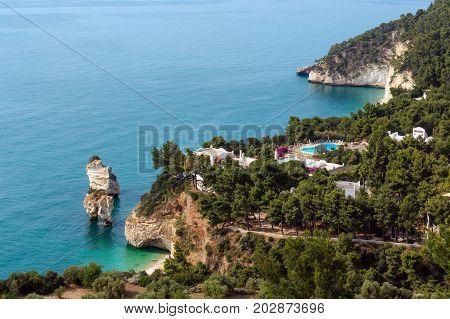 Faraglioni Di Puglia  Baia Delle Zagare, Italy