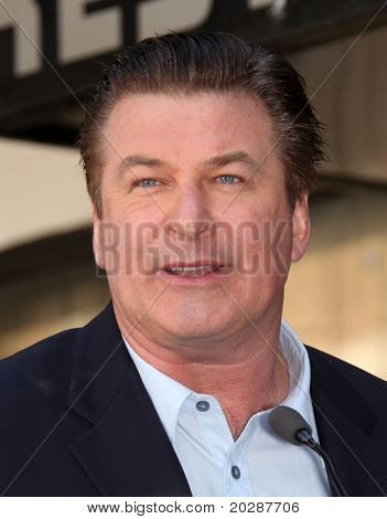 LOS ANGELES - FEB 14: Alec Baldwin arrives at his Hollywood Walk of Fame Ceremony to receive his star on February 14, 2011 in Hollywood, CA.