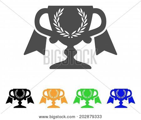 Achievement Award Cup vector icon. Style is a flat graphic symbol in gray, black, yellow, blue, green color versions. Designed for web and mobile apps.