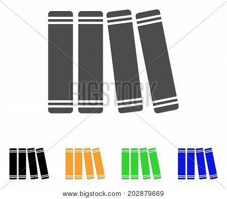 Anamnesis Books vector pictograph. Style is a flat graphic symbol in grey, black, yellow, blue, green color versions. Designed for web and mobile apps.