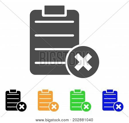 Cancel Test vector pictogram. Style is a flat graphic symbol in grey, black, yellow, blue, green color versions. Designed for web and mobile apps.