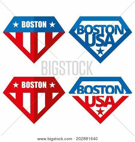 United states of America Vector logos Boston USA