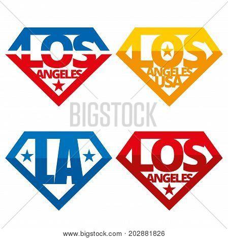 United states of America Vector logos USA Los Angeles LA