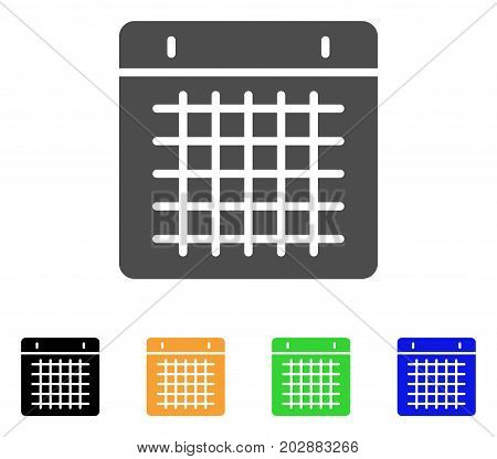 Duty Timetable vector pictogram. Style is a flat graphic symbol in grey, black, yellow, blue, green color variants. Designed for web and mobile apps.