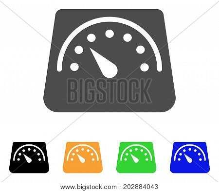Floor Scales vector pictograph. Style is a flat graphic symbol in grey, black, yellow, blue, green color variants. Designed for web and mobile apps.
