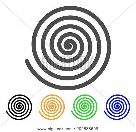 Hypnosis Spiral vector pictogram. Style is a flat graphic symbol in gray, black, yellow, blue, green color variants. Designed for web and mobile apps.