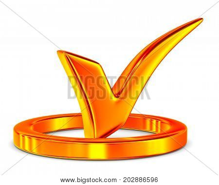 big positive symbol on white background. Isolated 3D illustration