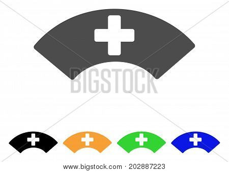 Medical Visor vector pictograph. Style is a flat graphic symbol in gray, black, yellow, blue, green color variants. Designed for web and mobile apps.