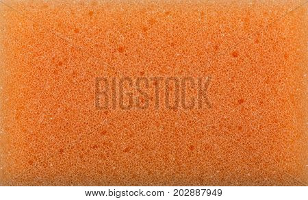 Sponge Texture Background. Polymeric Material With A Foam Structure. Close Up Color Washing Pad. Abr