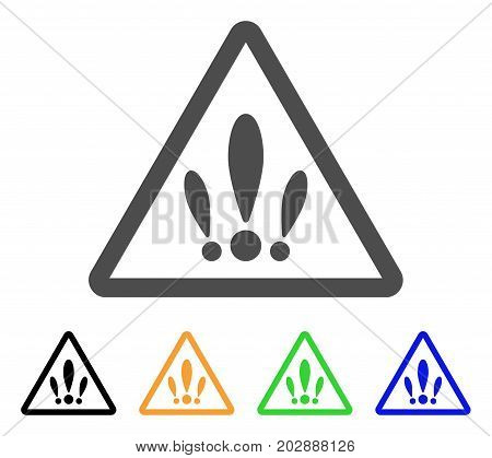 Multiple Problems vector pictograph. Style is a flat graphic symbol in gray, black, yellow, blue, green color variants. Designed for web and mobile apps.