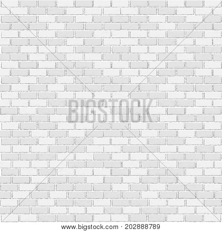 White old close-up brick template background texture. Empty wall architecture interior