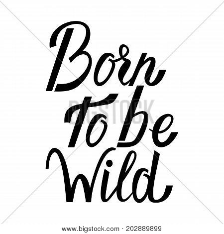 Born to be wild text isolated on white background. Wild text