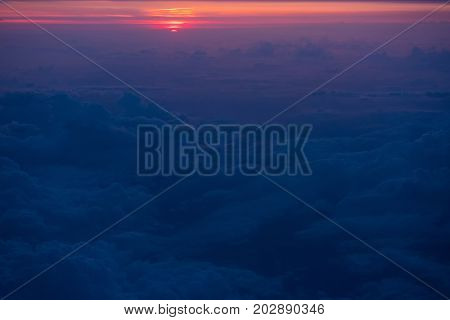 Sunset View From An Airplane