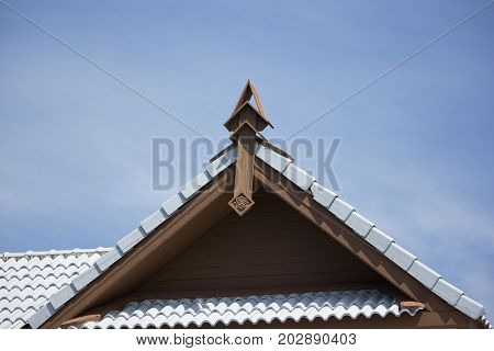 Gable Of House In Lanna Or North Thai Style.