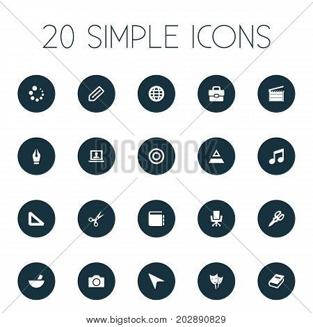 Elements Account, Pointer, Meal And Other Synonyms Catalog, Hierarchy And Action.  Vector Illustration Set Of Simple Design Icons.