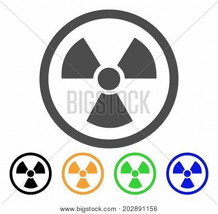 Radioactive vector icon. Style is a flat graphic symbol in grey, black, yellow, blue, green color versions. Designed for web and mobile apps.