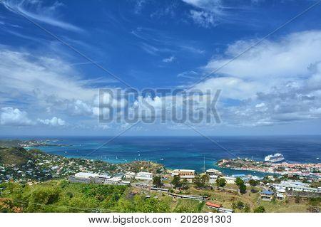 Aerial View Of Grenada,