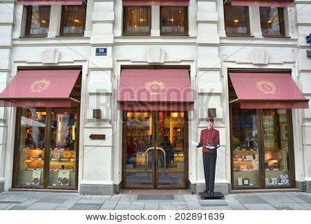 Entrance To The Hotel Sacher Cafe