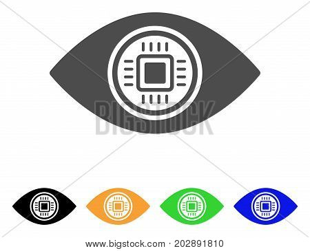 Robotics Vision vector icon. Style is a flat graphic symbol in grey, black, yellow, blue, green color versions. Designed for web and mobile apps.