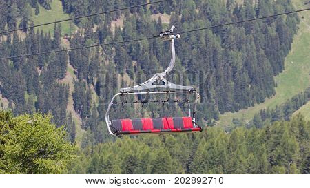 Ski Lift Chair In The Alps
