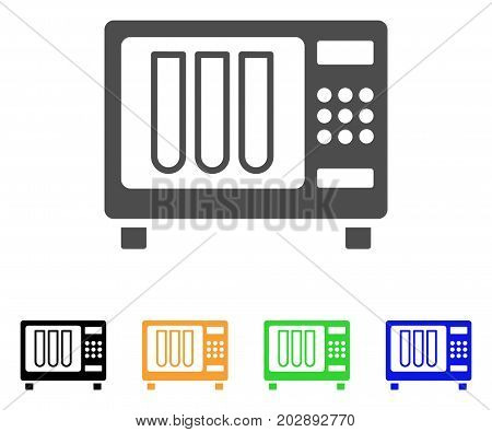 Sterilizer vector icon. Style is a flat graphic symbol in grey, black, yellow, blue, green color variants. Designed for web and mobile apps.
