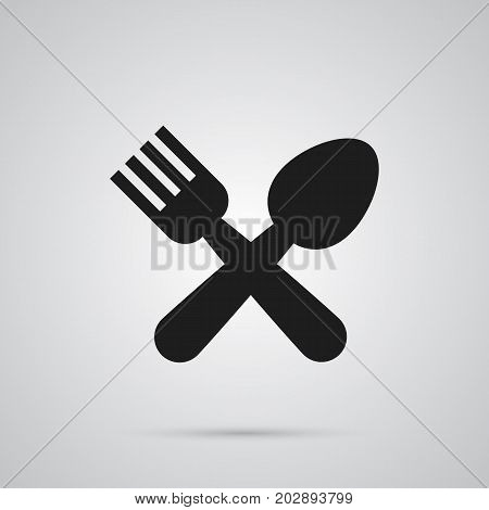 Vector Cafe Element In Trendy Style.  Isolated Restaurant Icon Symbol On Clean Background.