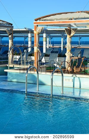 Swimming Pool On Ship