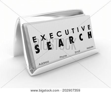 Executive Search Business Cards Career Job Recruitment 3d Illustration