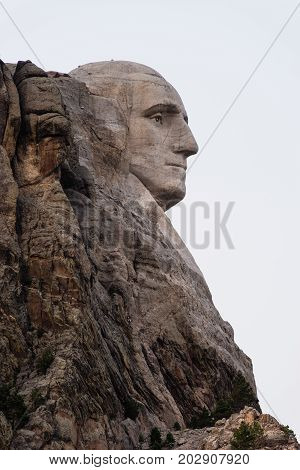 National Landmark rock carving Mount Rushmore South Dakota Black Hills