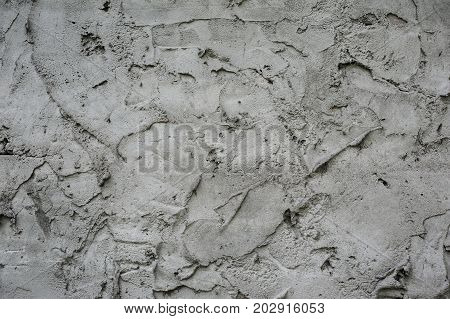 Abstract Texture Of The Stiffened Cement Mortar For A Background