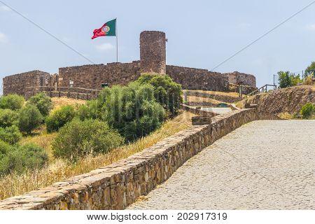Castle Of The Moors In Aljezur Village
