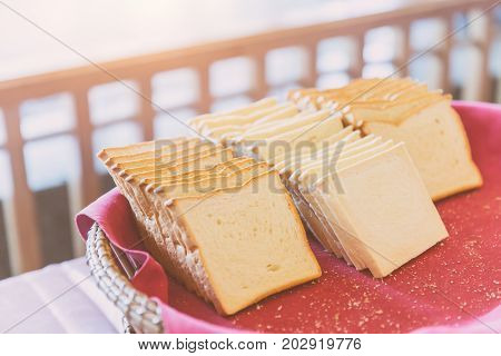 Slice White Bread For Bake Ready To Eat Morning Meal